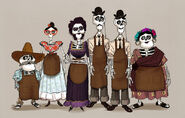 Coco Skeleton Family concept art