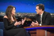 Lauren Graham visits Stephen Colbert