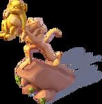 D-lion king statue