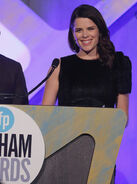 Neve Campbell speaks at Gotham Awards