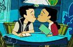 Penny and Kwok Kissing