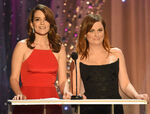 Tina Fey & Amy Poehler speak onstage at SAG Awards