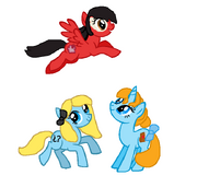 Alice, Wendy and Lilo as Growing Ponies
