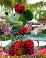 Disney characters made of flowers14