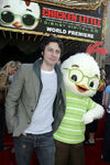 Zach Braff with Chicken Little at CL premiere