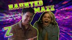 Ariel Martin and Trevor Take on the Haunted Maze Challenge! 😱 ZOMBIES 2 Disney Channel