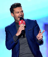 Ryan Seacrest speaks onstage at IHeartRadio Fest