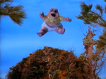 Baby Sinclair falls from nest