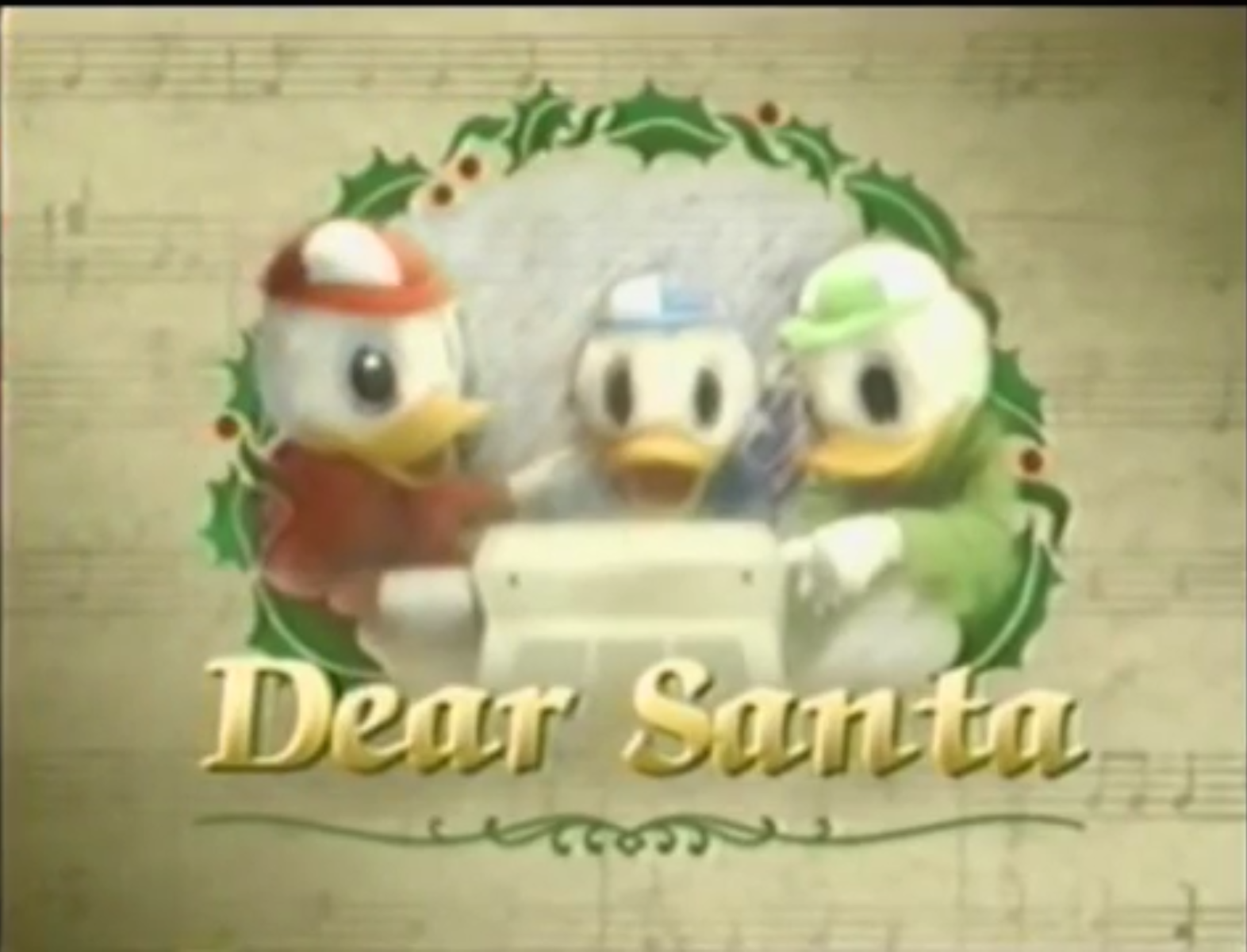 dear santa - Disney 12 Days Of Christmas