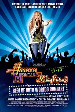 Hannah montana miley cyrus best of both worlds poster