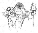 King Triton and Ariel