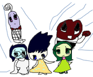 Inside Out Emotion Group Picture (Coloured)