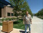 John Lasseter outside Pixar