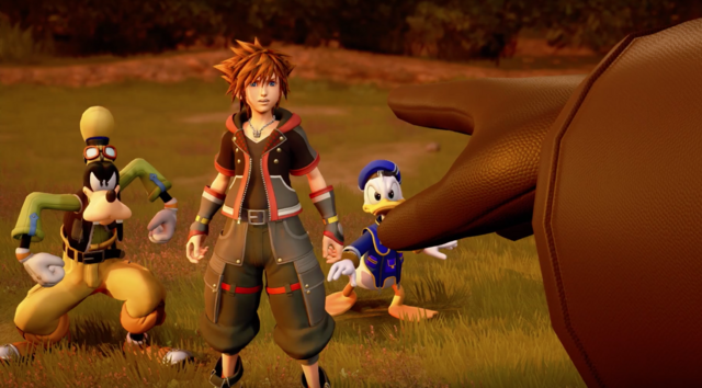 File:KH3 - Sora, Donald and Goofy confronted by Xemnas.png