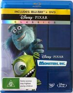 Monsters Inc 2010 AUS Blu Ray and DVD