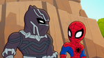Spider-Man and Black Panther in Marvel Super Hero Adventures