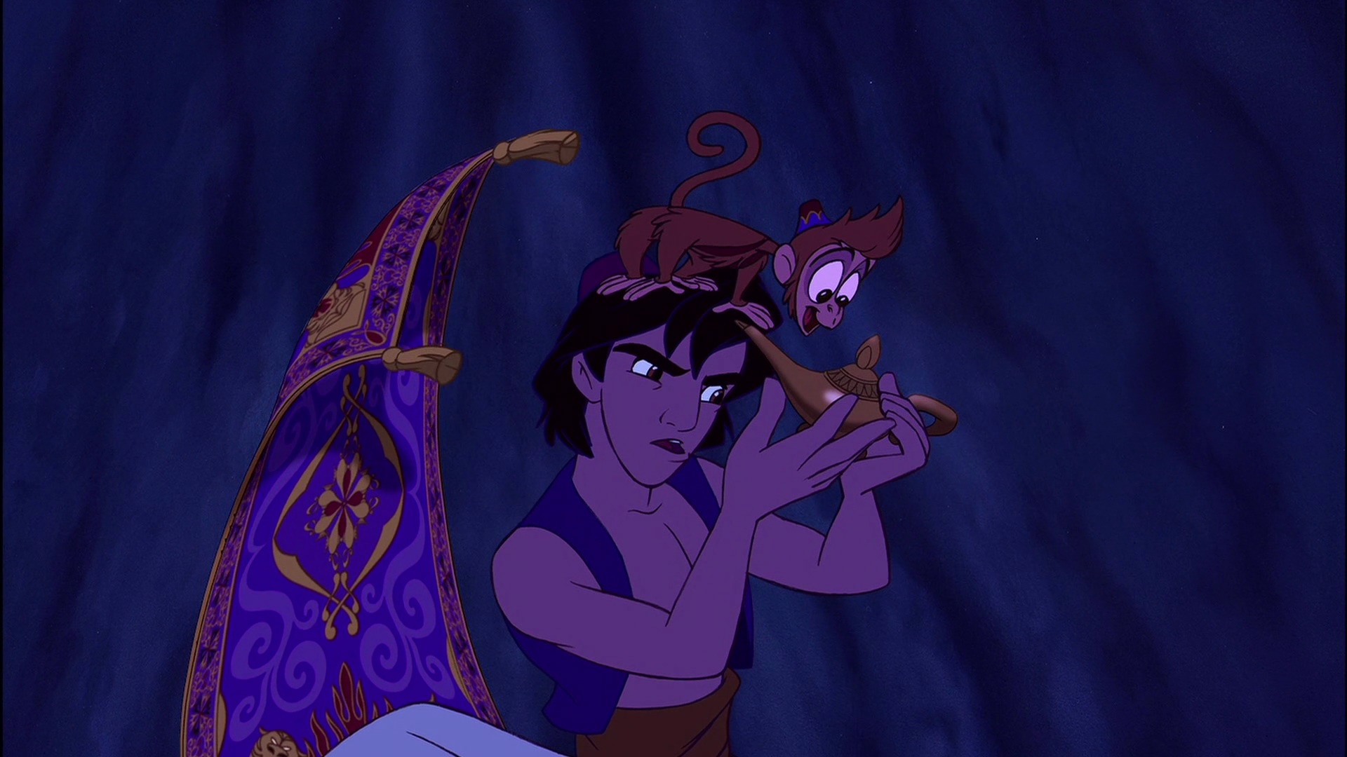 Image - Aladdin-abu-and-magic-carpet.jpg | Disney Wiki | FANDOM ... for Magic Lamp Aladdin Disney  35fsj