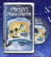 Early concept of the Mickey's Magical Christmas cover