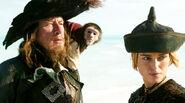 Jack, Barbossa and Elizabeth