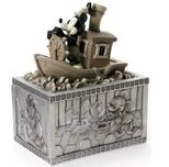 Disney Mickey Mouse steamboat Willie Lidded Box figurine