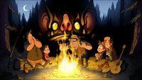 Fire bat monster gravityfalls