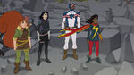 Marvel Rising Secret Warriors - Squirrel Girl, Tippy-Toe, Patriot and Ms. Marvel