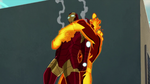 Molten Man has Iron Man USMWW