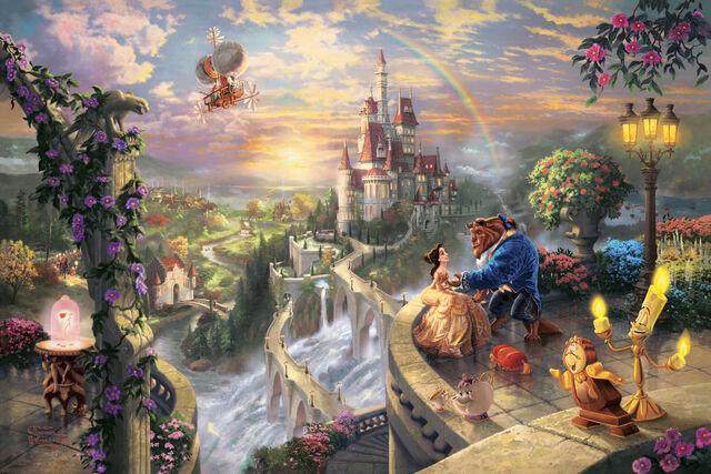 File:Thomas-Kinkade-Disney-Dreams-disney-princess-31536124-1600-1068.jpg