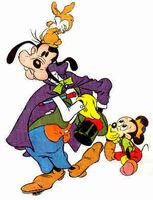 Goofy magician
