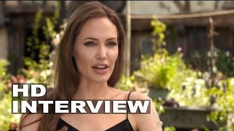 "Maleficent Angelina Jolie ""Maleficent"" On Set Movie Interview"