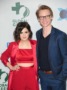 Calum Worthy & Laura Marano at Global Green Pre-Oscar Gala