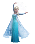 Elsa render making snow