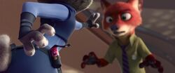 Judy reaches for fox repellent