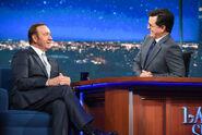 Kevin Spacey visits Stephen Colbert
