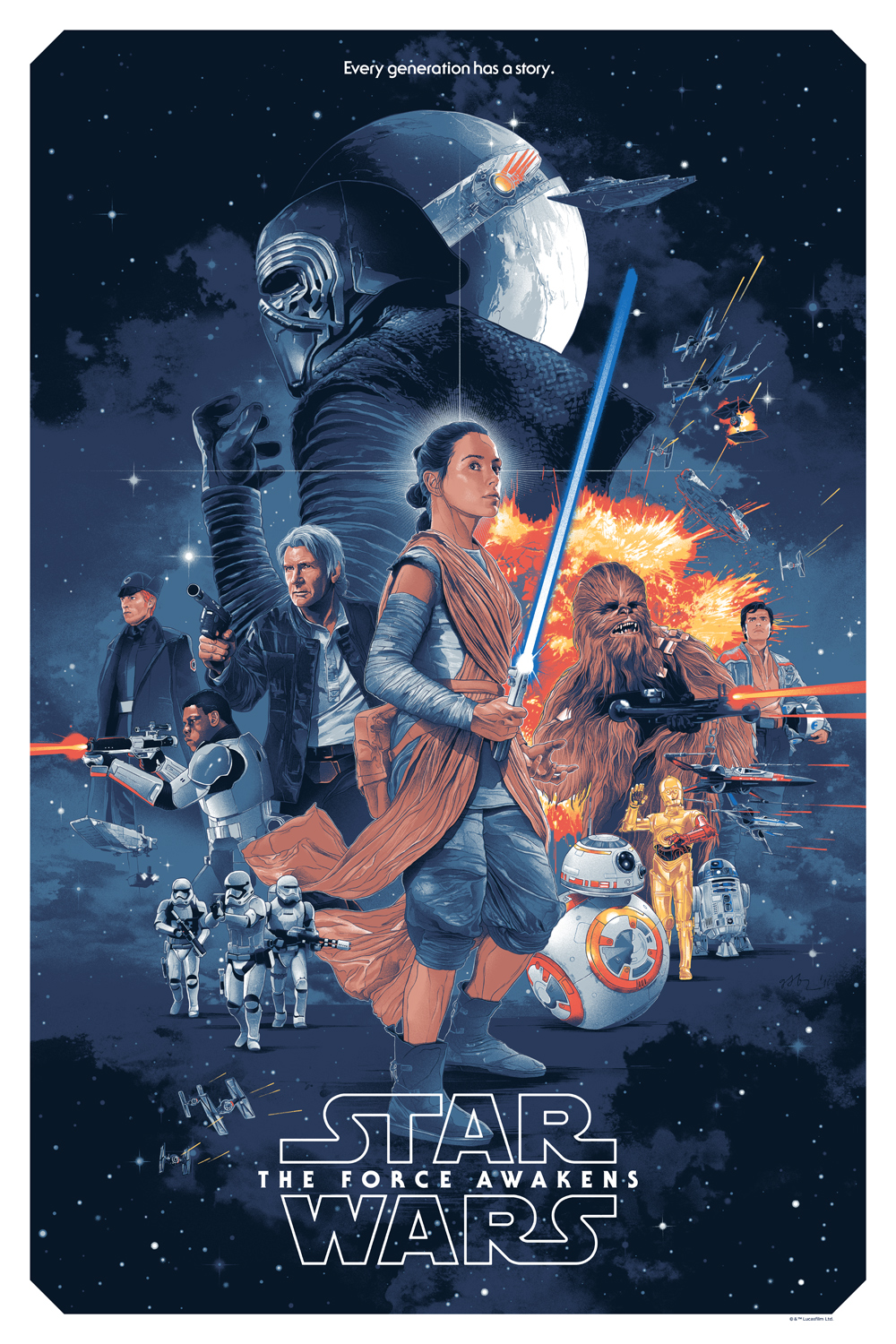 Delightful Star Wars   The Force Awakens   Poster
