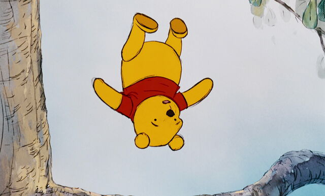 File:Winnie the Pooh is about to hit his head on the branch.jpg