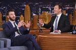 Chris Evans visits Jimmy Fallon