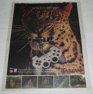 Tarzan playstation video game ad