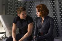 The-avengers- Hawkeye and Black Widow