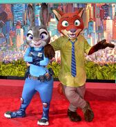 Zootopia characters world premiere