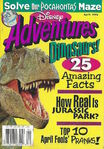 Disney Adventures Magazine cover April 1996 Dinosaurs