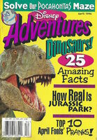 Disney Adventures Magazine cover April 1996 Dinosaurs