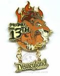 Disneyland Scar Friday the 13th pin