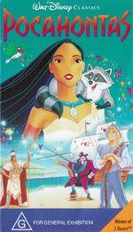 Pocahontas 1996 Australia VHS