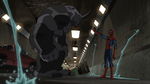 Spider-man tries to confort Rhino USMWW