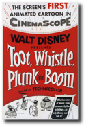 Toot, whistle, plunk and boom poster