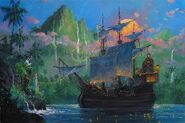 Coleman-pan-on-board-art-disney-24x36