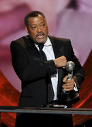 Laurence Fishburne speaks at NAACP Awards