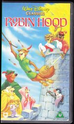Robin Hood 1996 UK VHS