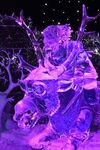 Sven and Kristoff ice sculpture